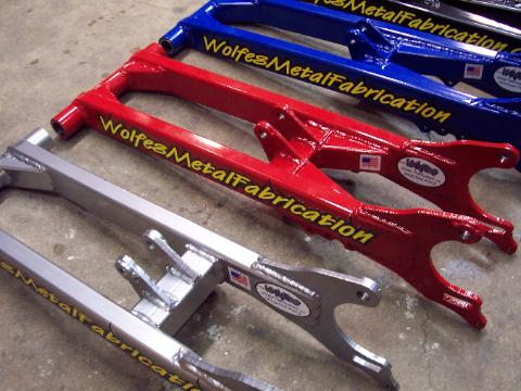 Yamaha Banshee Extended Swingarms - Wolfes Metal Fabrication