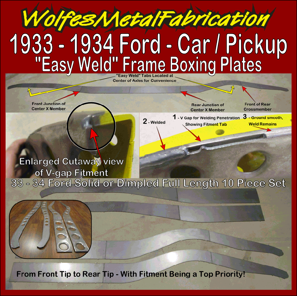 1933-34 Ford Boxing Plates - Wolfes Metal Fabrication
