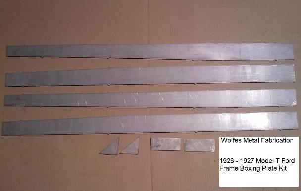 Model T Boxing Plates - Wolfes Metal Fabrication
